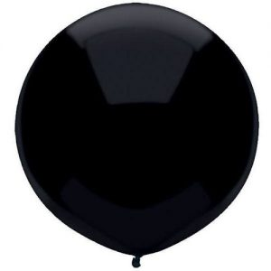 Black 43cm outdoor latex balloons 50 pack