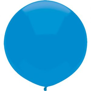 Bright Blue 43cm latex balloons outdoor