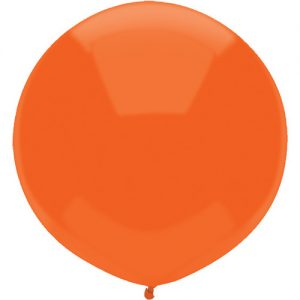 Bright Orange 43cm latex balloons outdoor