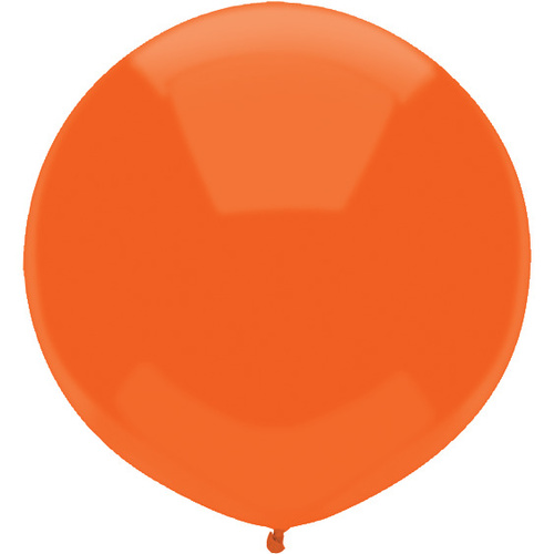 Bright Orange 43cm latex balloons outdoor