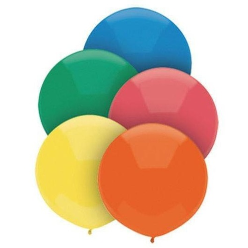 Primary Assorted 43cm latex outdoor balloons