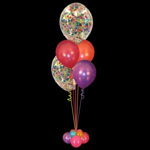 Bouquet of 2 Confetti & 2 latex balloons