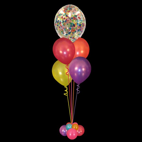 Bouquet of Confetti & 4 latex balloons