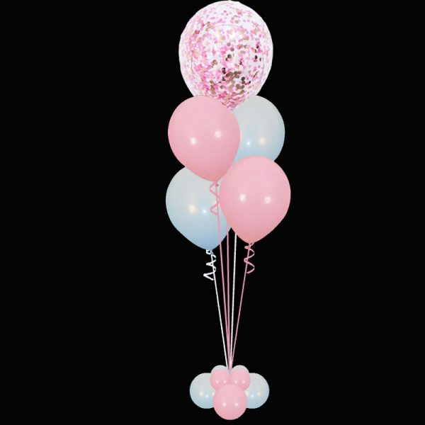 Bouquet of Confetti & 4 latex balloons2
