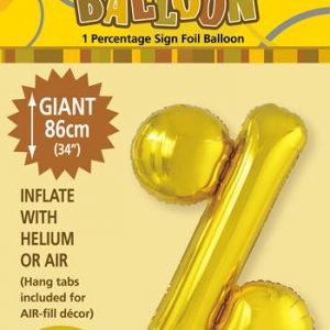 Gold Foil % 86cm balloon letter helium filled