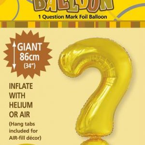 ? Gold foil balloon letter helium filled