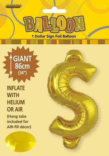 Gold Foil $ 86cm balloon letter helium filled