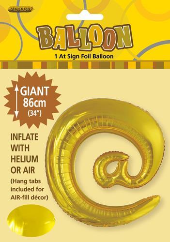 @ Gold Foil letter 86cm helium filled