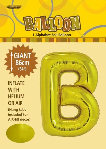 Letter B 86cm foil balloon letter helium filled